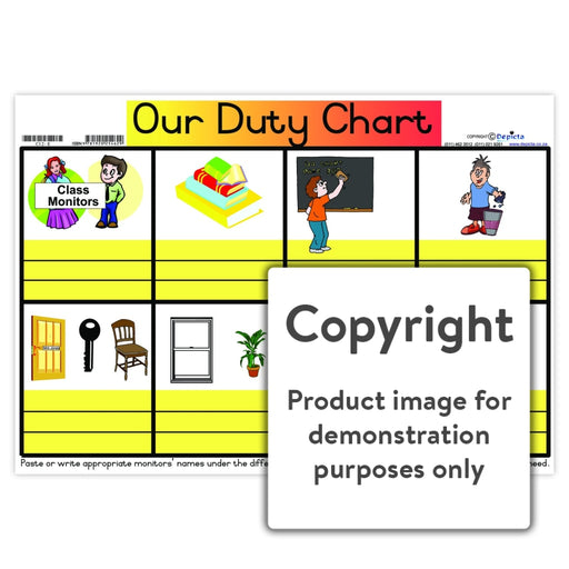 Our Duty Chart Wall Charts And Posters