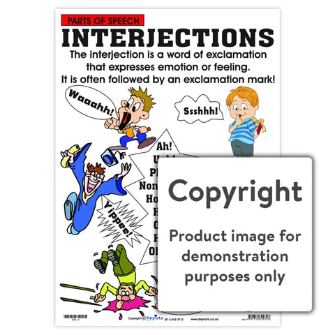 Parts Of Speech: Interjections Wall Charts And Posters