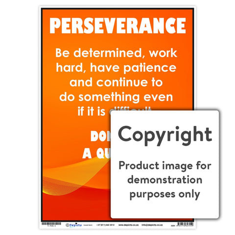 Perseverance Wall Charts And Posters