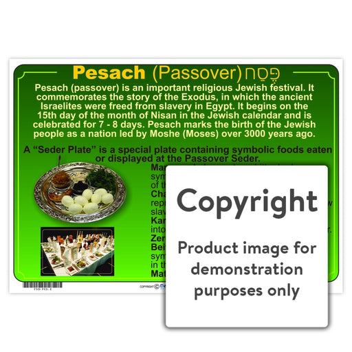 Pesach (Passover) Wall Charts And Posters