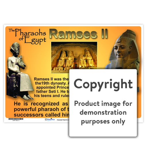 Pharoahs Of Egypt - Ramses Ii Wall Charts And Posters