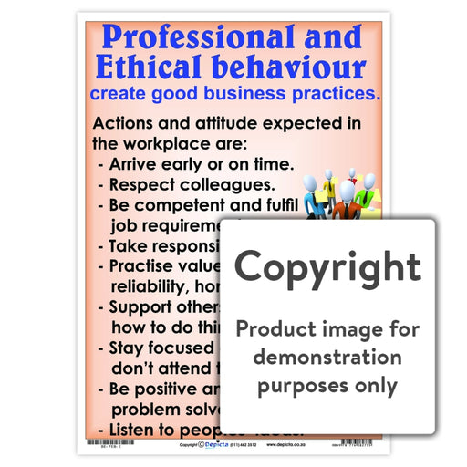 Professional And Ethical Behaviour Wall Charts Posters