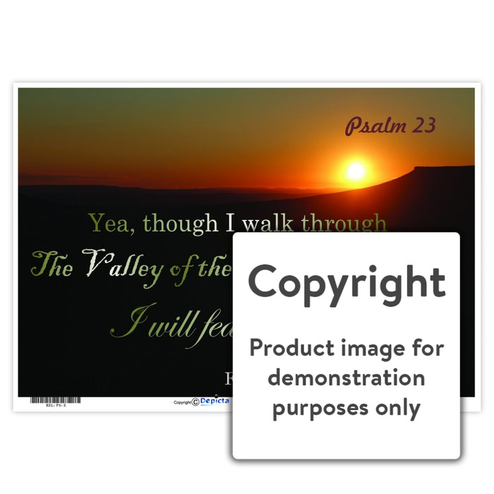 Psalm 23 Wall Charts And Posters