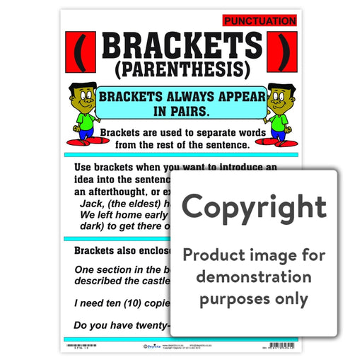 Punctuation: Brackets (Parenthesis) Wall Charts And Posters
