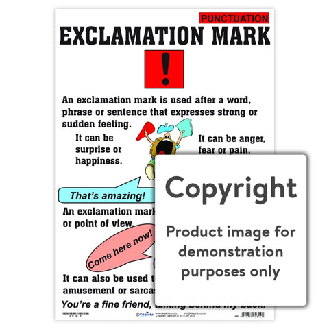 Punctuation: Exclamation Mark Wall Charts And Posters