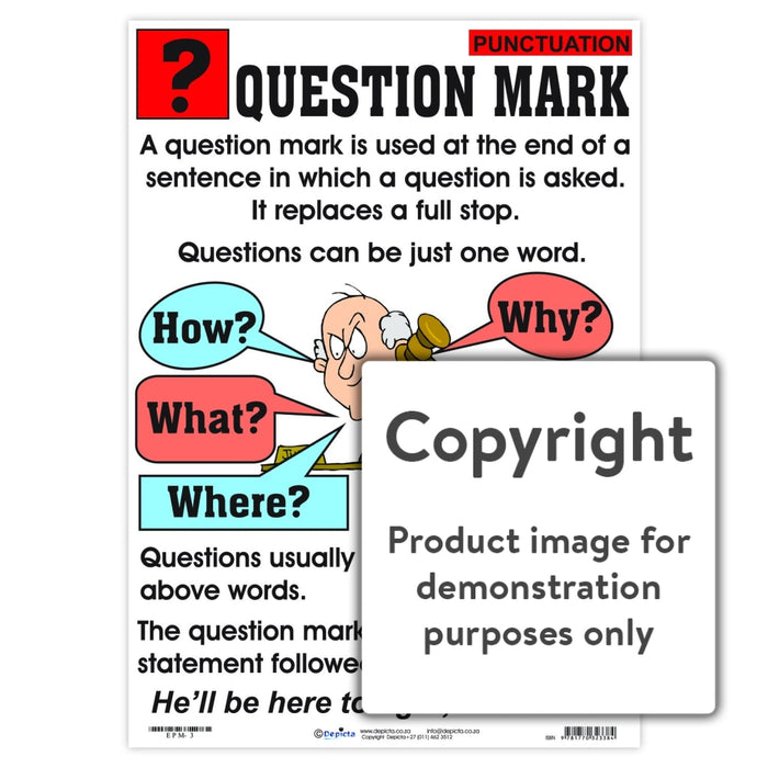 Punctuation: Question Mark Wall Charts And Posters