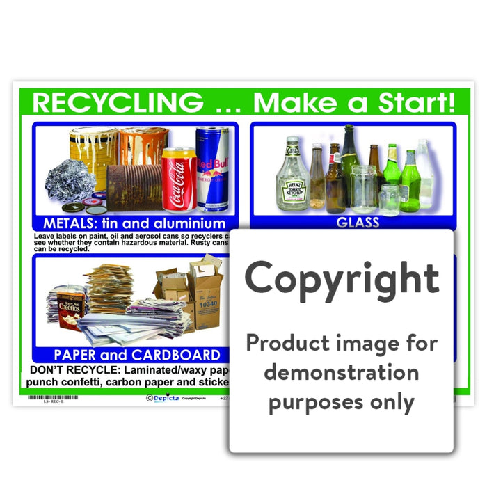 Recycling ... Make A Start! Wall Charts And Posters
