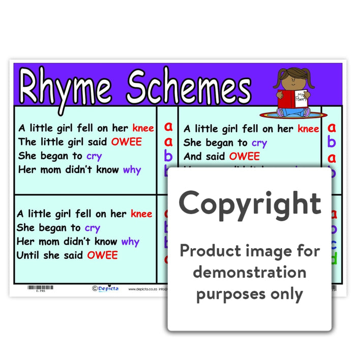 Rhyme Schemes Wall Charts And Posters
