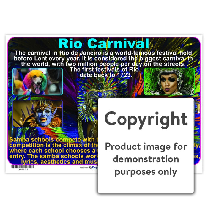 Rio Carnival Wall Charts And Posters