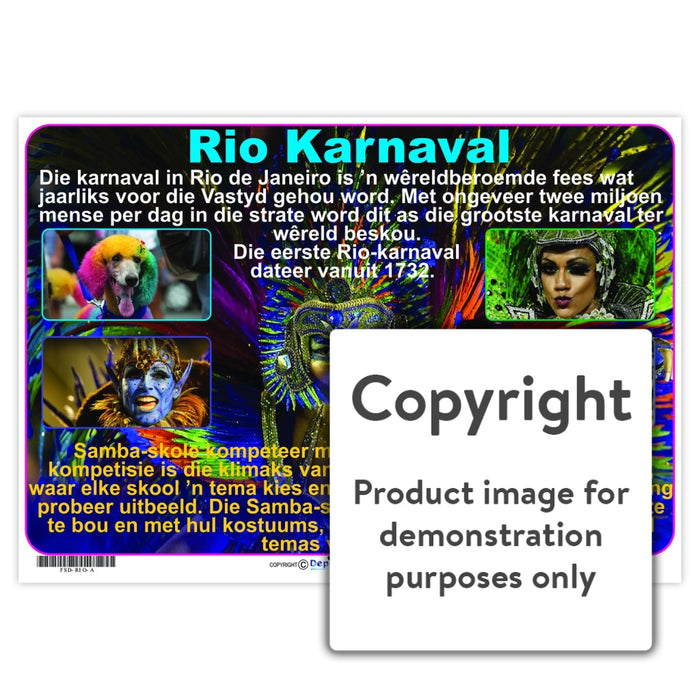Rio Karnaval Wall Charts And Posters