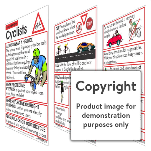 Road Safety: Cyclists Wall Charts And Posters