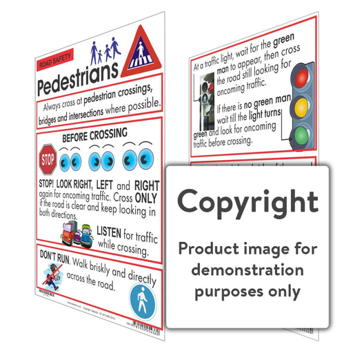 Road Safety: Pedestrians Wall Charts And Posters