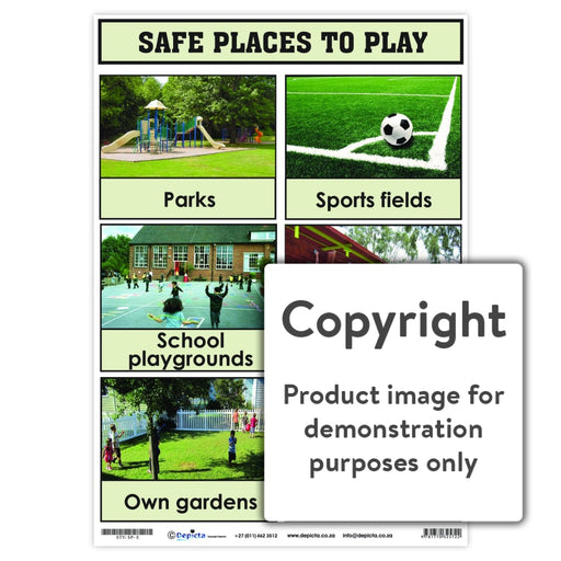 Safe Places To Play Wall Charts And Posters