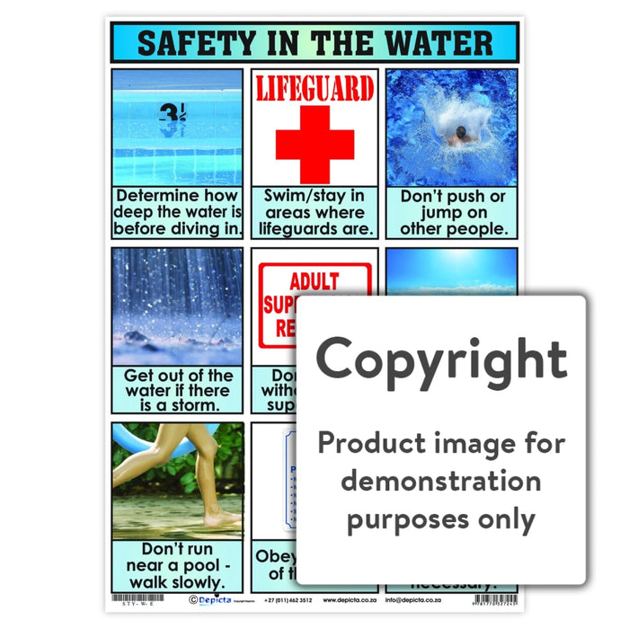 Safety In The Water Wall Charts And Posters