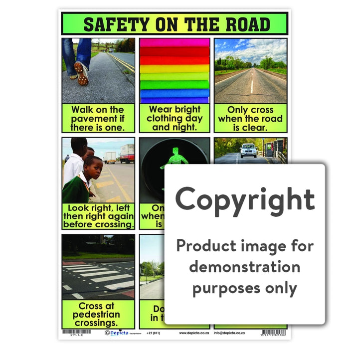 Safety On The Road Wall Charts And Posters