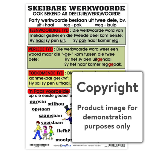 Skeibare Werkwoorde Wall Charts And Posters