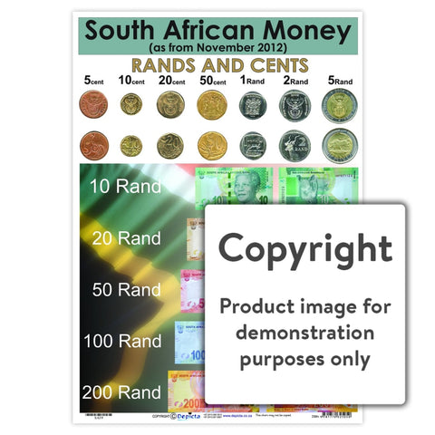 South African Money Wall Charts And Posters