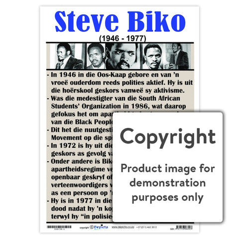 Steve Biko - Afrikaans Wall Charts And Posters