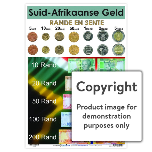 Suid-Afrikaanse Geld Wall Charts And Posters