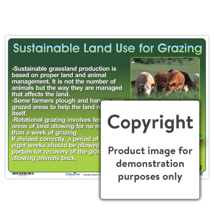 Sustainable Land Use For Grazing Wall Charts And Posters