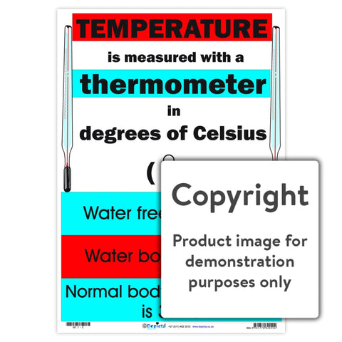 Temperature: In Degrees Celsius Wall Charts And Posters