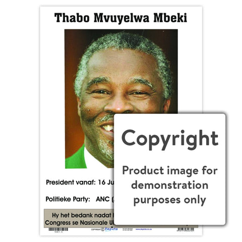 Thabo Mbeki- Afrikaans Wall Charts And Posters