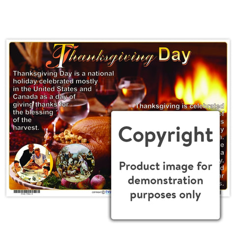 Thanksgiving Day Wall Charts And Posters
