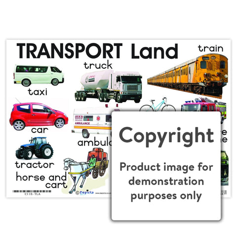 Transport: Land Wall Charts And Posters