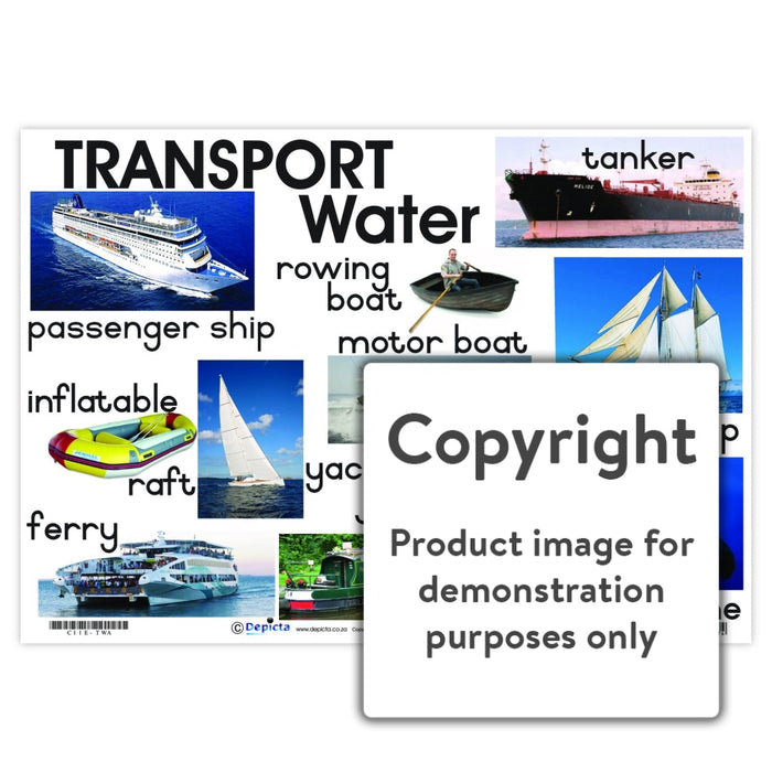 Transport: Water Wall Charts And Posters