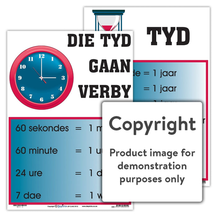 Tyd - Die Gaan Verby Wall Charts And Posters