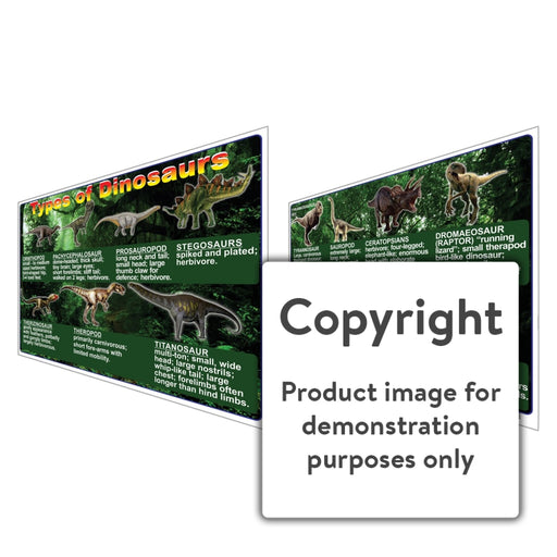 Types Of Dinosaurs Wall Charts And Posters