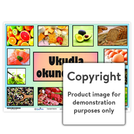 Ukudla Okunempilo (Healthy Food) Wall Charts And Posters