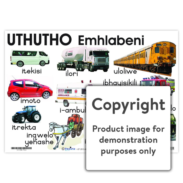 Uthutho: Emhlabeni ( Transport: Land ) Wall Charts And Posters