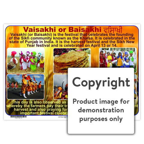 Vaisakhi Or Baisakhi Wall Charts And Posters