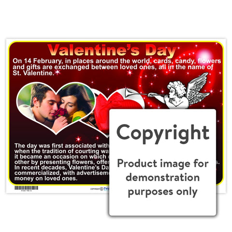 Valentines Day Chart Wall Charts And Posters