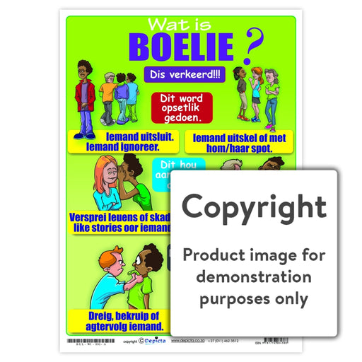 Wat Is Boelie (High School) Wall Charts And Posters