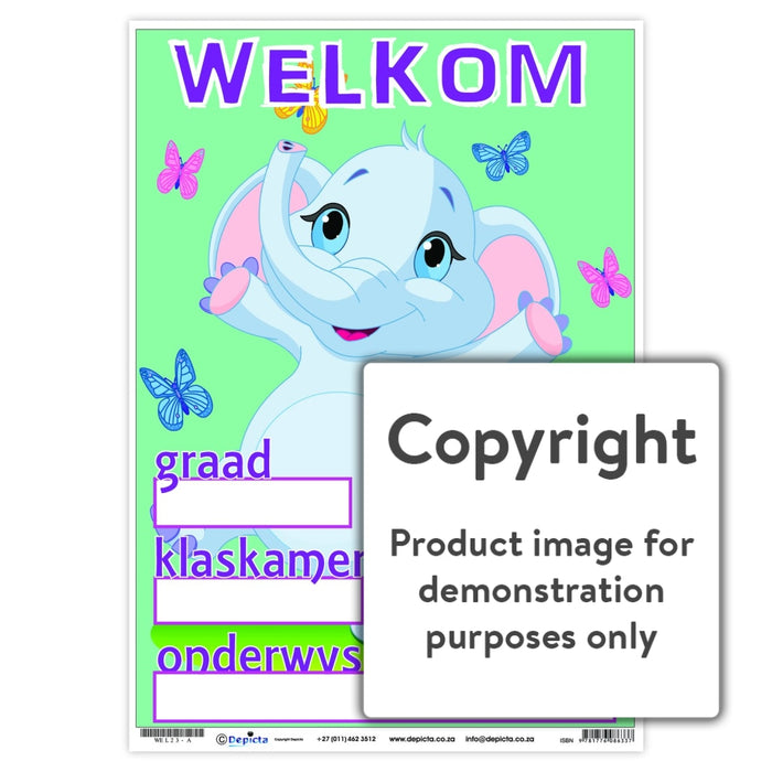 Welkom 23 Wall Charts And Posters