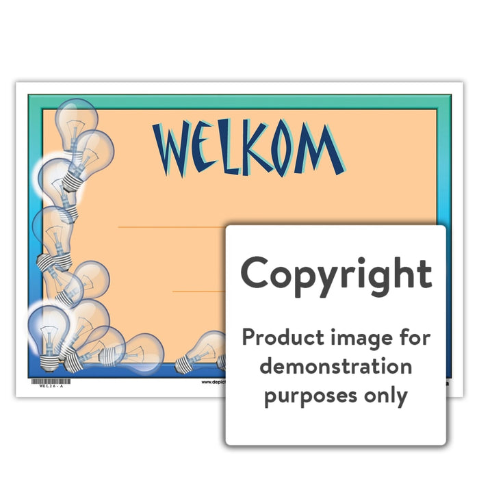 Welkom 26 Wall Charts And Posters