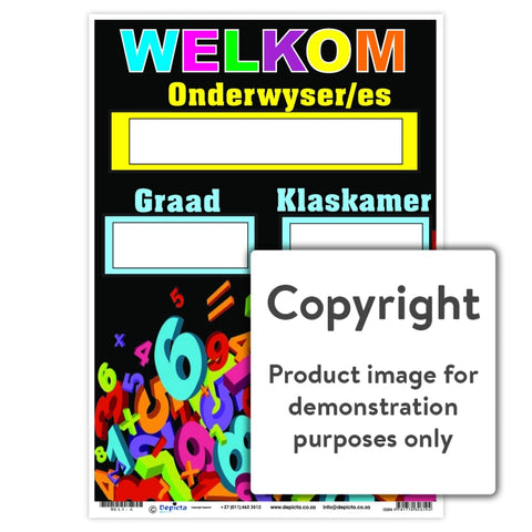 Welkom 5 Wall Charts And Posters