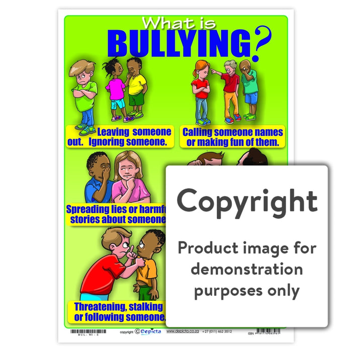 What Is Bullying (Primary School) Wall Charts And Posters