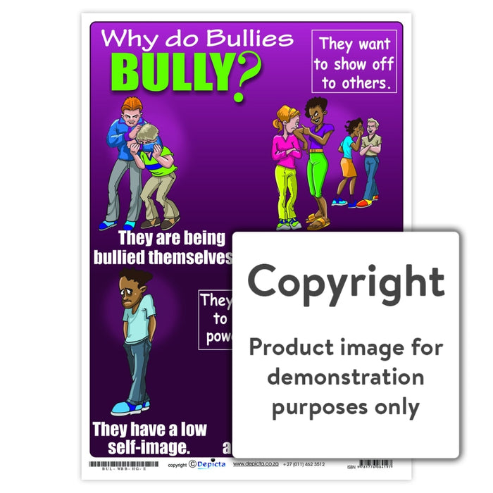 Why Do Bullies Bully (High School) Wall Charts And Posters