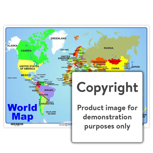 World Map Wall Charts And Posters