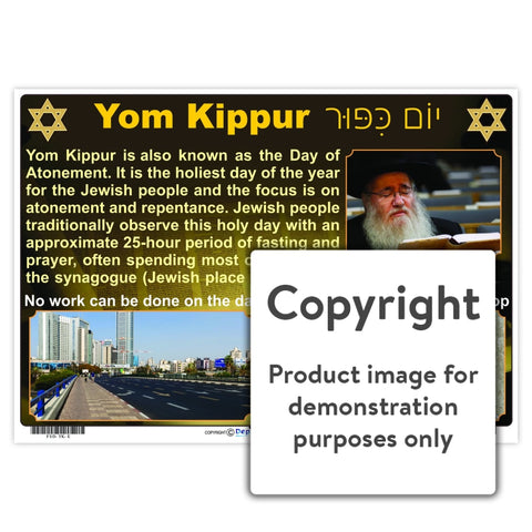 Yom Kippur Wall Charts And Posters