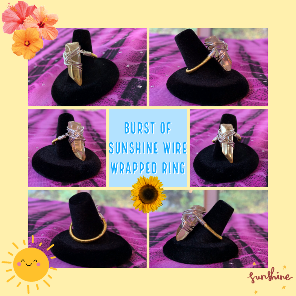 Burst of Sunshine Wire Wrapped Ring