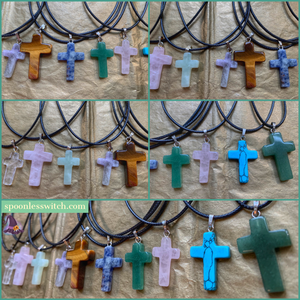 Gemstone Crosses - The Spoonless Witch