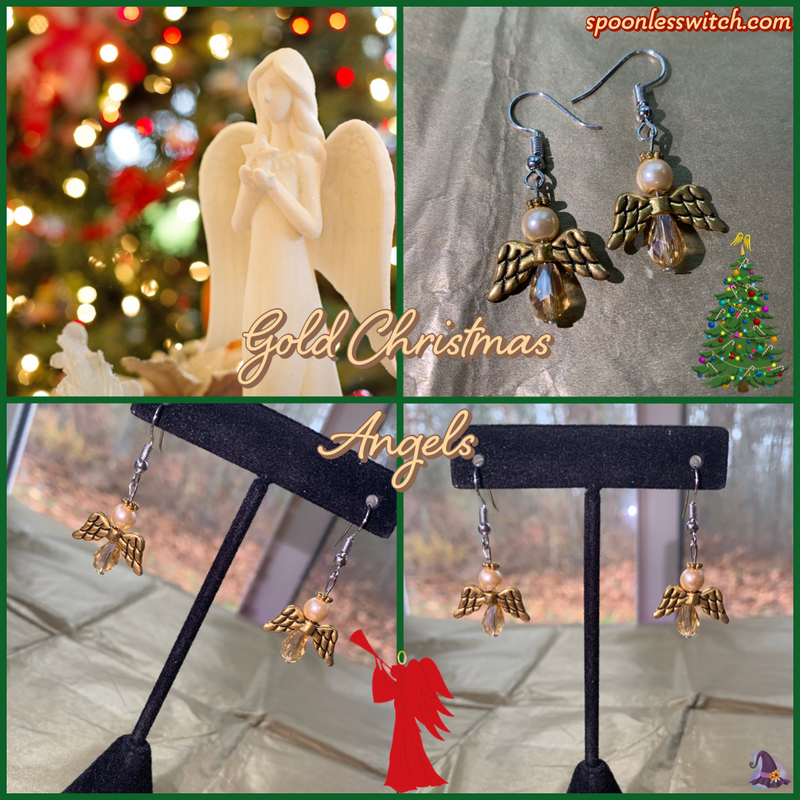 Gold Christmas Angels