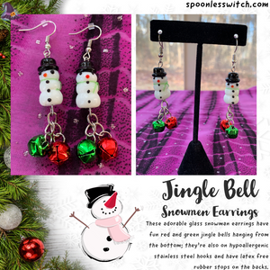 Jingle Bell Snowmen Earrings