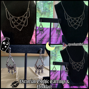 Victorian Gothic Earrings & Necklace