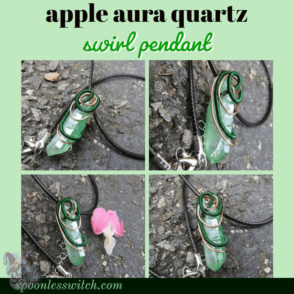 Apple Aura Quartz Swirl Pendant at The Spoonless Witch