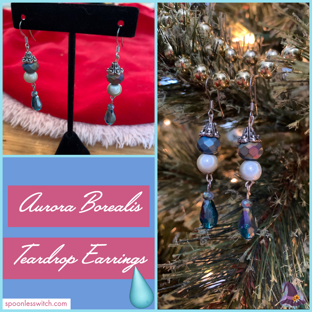 Aurora Borealis Teardrop Earrings